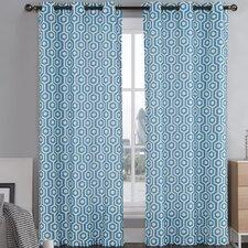 Honeycomb Drape Curtain Panel (Set of 2)