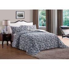 Animal Faux Fur Comforter Set