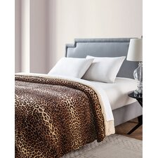 Nigel Animal Printed Sherpa Reversible Blanket