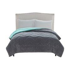Lauren Chevron Plush Comforter