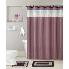 Flora 5 Piece Shower Curtain Set