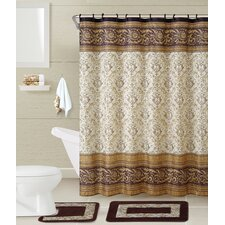Roma 5 Piece Shower Curtain Set