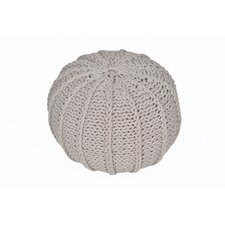 Cable Knitted Round Pouf