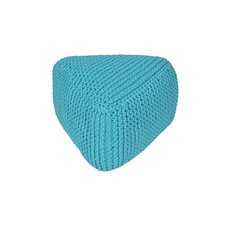 Majestic Knitted Triangle Pouf