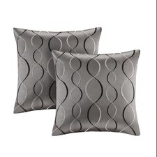 Serendipity Ogee Embroidered Taffeta Throw Pillow (Set of 2)