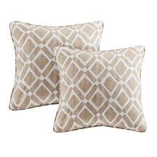 Delray Diamond Printed Throw Pillow (Set of 2)