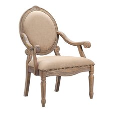 Madison Park Brentwood Oval Back Exposed Wood Arm Chair
