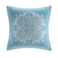 Medallion Embroidered Cotton Throw Pillow
