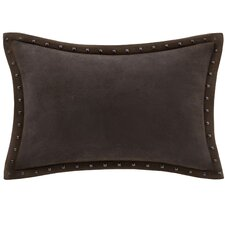 Stud Trim Microsuede Throw Pillow