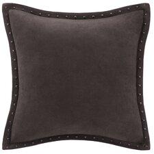 Stud Trim Microsuede Throw Pillow