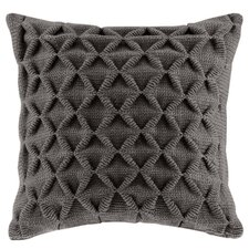 Waffle Knit Polyester Throw Pillow