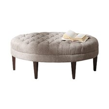 Martin Button Tufted Oval Ottoman