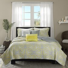 Caicos 6 Piece Quilted Coverlet Set