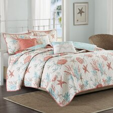 Pebble Beach 6 Piece Quilted Coverlet Set