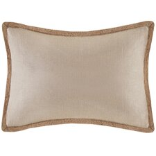 Linen with Jute Trim Oblong Pillow