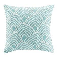 Scallop Square Cotton Throw Pillow