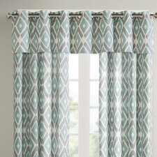 "Ashlin Diamond Printed 50"" Curtain Valance"