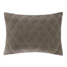 Ogee Velvet Quilted Cotton Lumbar Pillow