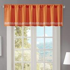 "Nisha Cotton Embroidered 50"" Curtain Valance"