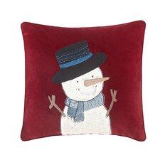 Jolly the Snowman Throw Pillow