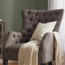 Hannah Button Tufted Wing Back Arm Chair
