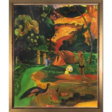 """Matamoe (Death), Landscape with Peacocks, 1892"" by Paul Gauguin Framed Painting Print"