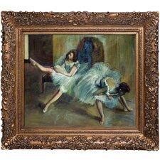 'Before the Ballet (detail)' by Edgar Degas Framed Painting Print