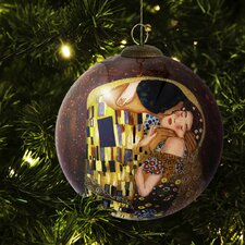 Kiss Hand Painted Glass Ornament