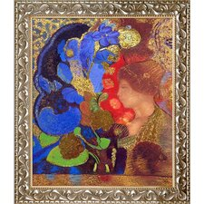Luxury Line 'Woman Among the Flowers' by Odilon Redon Framed Original Painting