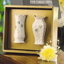 Shamrock 2 Piece Mini Vase Set (Set of 2)