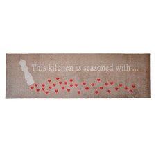 Läufer LifeStyle-Mat Kitchen Hearts in Braun / Rot