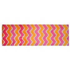 Läufer LifeStyle-Mat Zigzag in Orange / Pink