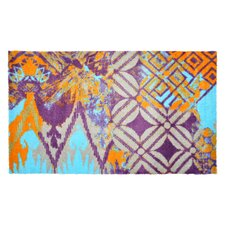 Läufer LifeStyle-Mat Teppich ZickZack in Blau/ Orange