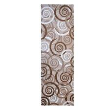 Läufer LifeStyle-Mat Spirals in Beige / Weiß