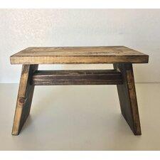 Primitive Wooden Riser End Table