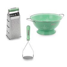 Retro 3 Piece Masher and Grater Set
