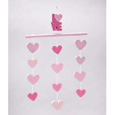 Little Love Separates Heart Ceiling Mobile