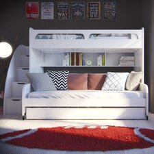 Bel Mondo Twin Bunk Bed with Table and Trundle
