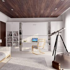 Pensiero Twin Bunk Wall Bed with Table