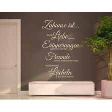 Liebe, Erinnerung, Freunde Wall Sticker