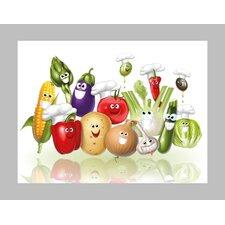 Lachendes Gemüse Glass Art