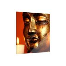 Goldener Buddha Glass Art