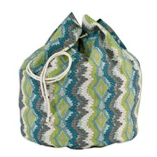Chino Frost Birch Round Laundry Bag with 8 Grommet