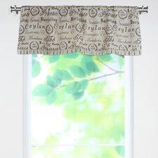 Tea House Cotton Valance with Rod Pocket Bottom