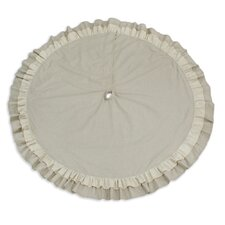 Linen Natural Round Tree Skirt
