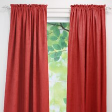 Passion Suede Cinnabar Rod Pocket Curtain Panel