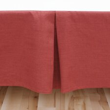 Circa Solid Linen Pleated Bed Skirt