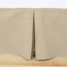 Jefferson Driftwood Linen Pleated Bed Skirt