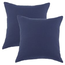 Duck Cotton Pillow in Navy (Set of 2)