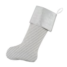 Houndstooth Storm Band Christmas Stocking in Storm